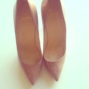 Authentic Christian Louboutins. Nude.